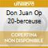 DON JUAN OP 20-BERCEUSE