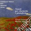 Mario Castelnuovo-Tedesco / Nino Rota - Sonata Per Clar E Pf Op.128- Levorato GiorgioCl / martina Stauble