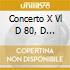 CONCERTO X VL D 80, D 96, D 113, D 115