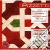 Pizzetti Ildebrando - Canti Della Stagione Alta, 3 Canzoni, 2 Canti D'amore, Preludio, Foglio D'album