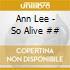 Ann Lee - So Alive ##