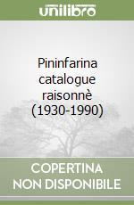 Pininfarina catalogue raisonnè (1930-1990)